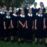 Photo  Eight sets of twins are attending St Margaret's Anglican Girls' School in Brisbane this year. ABC: Brett Ramsay